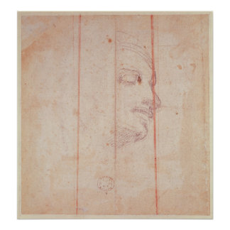 Study for the Head of the Libyan Sibyl Poster