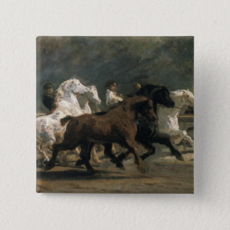 Study for the Horsemarket, 1900 Pinback Button