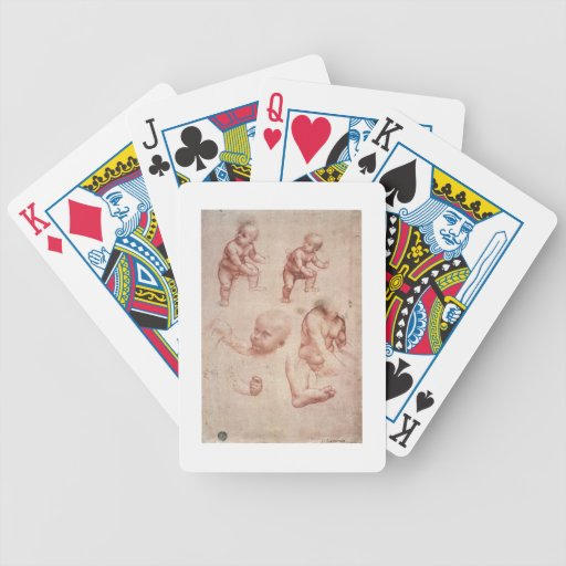 Study for the Infant Christ, c.1501-10 (red chalk Bicycle Card Deck