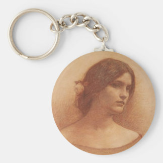 Study for The Lady Clare Basic Round Button Keychain