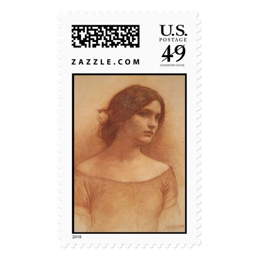 Study for The Lady Clare Postage Stamp