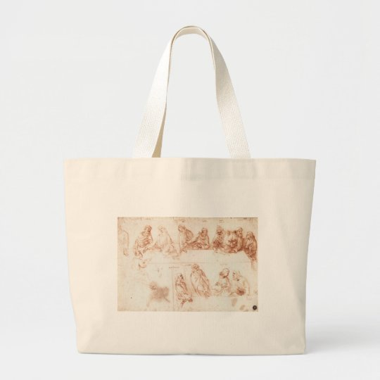 Study for The Last Supper Large Tote Bag