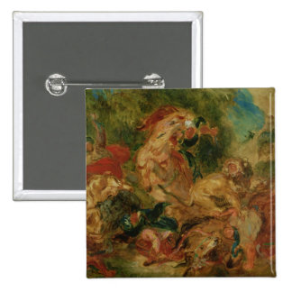 Study for The Lion Hunt, 1854 Button