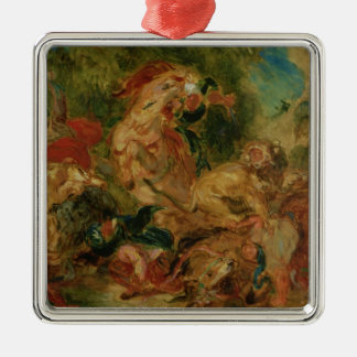 Study for The Lion Hunt, 1854 Christmas Tree Ornaments
