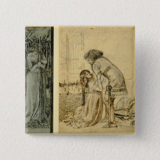 Study for the painted panels on the St. George Cab Pinback Button
