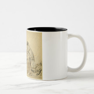 Study for the painted panels on the St. George Cab Two-Tone Coffee Mug