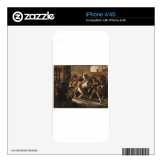 Study for the Race of the Barbarian Horses iPhone 4 Decal
