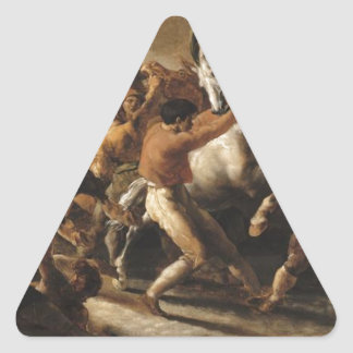Study for the Race of the Barbarian Horses Triangle Sticker