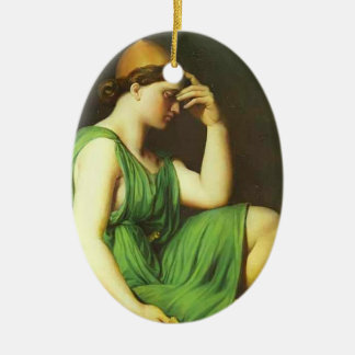Study for the Triumph of Homer by Jean Ingres Christmas Ornaments