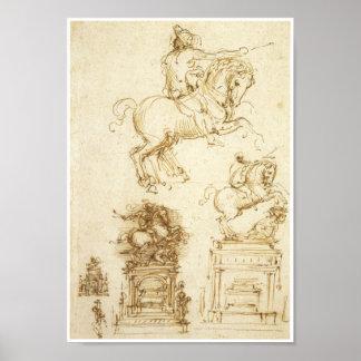 Study for the Trivulzio Monument, Da Vinci Poster