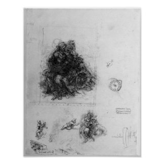 Study for the Virgin and Child with St. Anne Poster