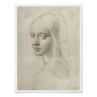 """Study for the """"Virgin of the Rocks"""", Da Vinci Posters"""