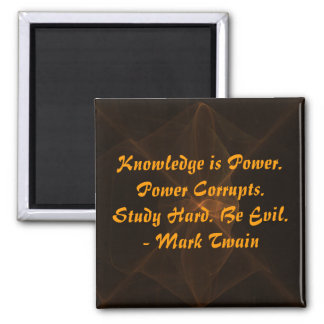 Study Hard and Be Evil 2 Inch Square Magnet