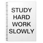 Study Hard Notebook