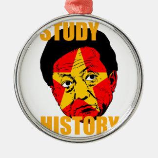 Study History Metal Ornament