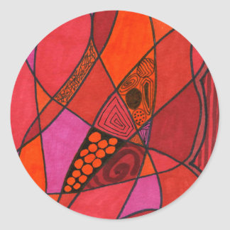 """""""Study in Reds"""" Abstract Design Sticker"""