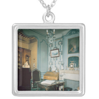 Study in the birthplace of Hector Berlioz Silver Plated Necklace