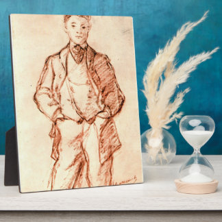 Study of a boy by Edouard Manet Photo Plaque