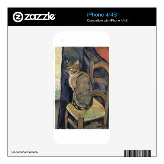 Study of a cat by Suzanne Valadon iPhone 4S Decal