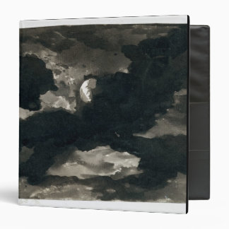 Study of a Clouded Moonlit Sky (black wash on laid Binder