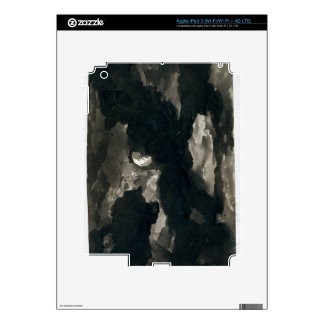 Study of a Clouded Moonlit Sky (black wash on laid Decal For iPad 3