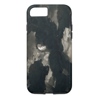 Study of a Clouded Moonlit Sky (black wash on laid iPhone 8/7 Case