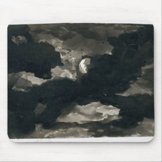 Study of a Clouded Moonlit Sky (black wash on laid Mouse Pad