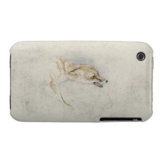 Study of a crouching Fox, facing right verso: fain Case-Mate iPhone 3 Case