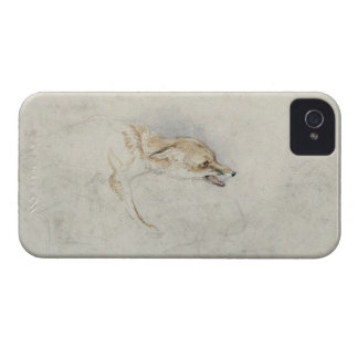Study of a crouching Fox, facing right verso: fain Case-Mate iPhone 4 Case