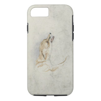Study of a crouching Fox, facing right verso: fain iPhone 7 Case