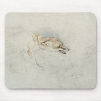 Study of a crouching Fox, facing right verso: fain Mouse Pad