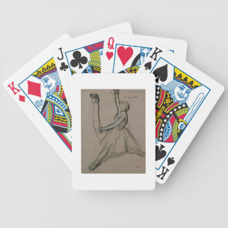 Study of a Dancer (chalk on paper) Bicycle Playing Cards
