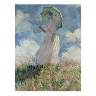 Study of a Figure Outdoors (Facing Left) Monet Postcard