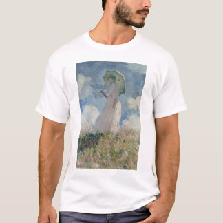 Study of a Figure Outdoors (Facing Left) Monet T-Shirt