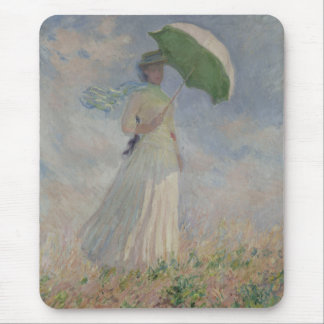Study of a Figure Outdoors (Facing Right) Monet Mouse Pad