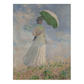 Study of a Figure Outdoors (Facing Right) Monet Postcard