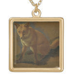 Study of a Fox (oil on panel) Necklaces