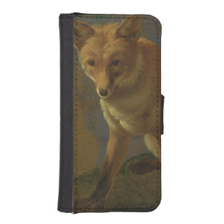 Study of a Fox (oil on panel) iPhone 5 Wallet Cases