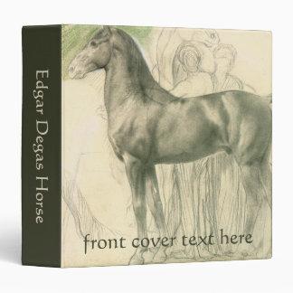 Study of a Horse by Edgar Degas, Vintage Fine Art 3 Ring Binder