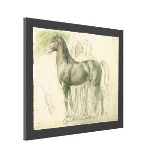 Study of a Horse by Edgar Degas, Vintage Fine Art Canvas Print