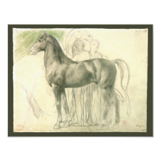 Study of a Horse by Edgar Degas, Vintage Fine Art Card