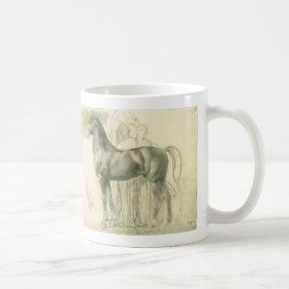 Study of a Horse by Edgar Degas, Vintage Fine Art Coffee Mug