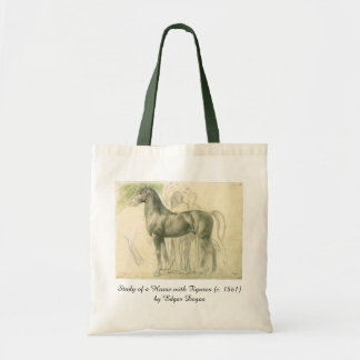 Study of a Horse by Edgar Degas, Vintage Fine Art Tote Bag