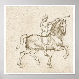 Study of a Horseman, Leonardo Da Vinci Posters