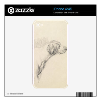 Study of a Hound, 1794 (pencil on paper) Decal For The iPhone 4