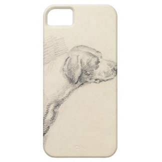 Study of a Hound, 1794 (pencil on paper) iPhone SE/5/5s Case