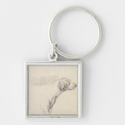 Study of a Hound, 1794 (pencil on paper) Key Chains