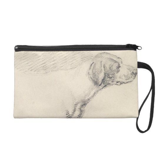 Study of a Hound, 1794 (pencil on paper) Wristlet Purse