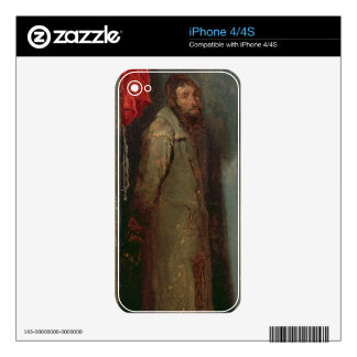 Study of a Jewish Merchant (oil on board) iPhone 4 Decal