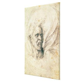 Study of a man shouting canvas prints